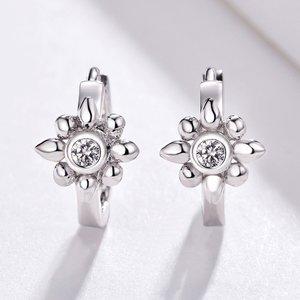 Cercei din argint Flower Hoops