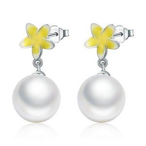 Cercei din argint Flower Pearl