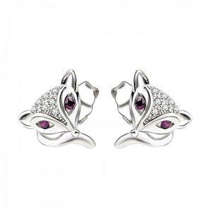 Cercei din argint Foxy Eyes