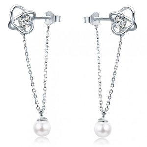 Cercei din argint Galaxy Pearls