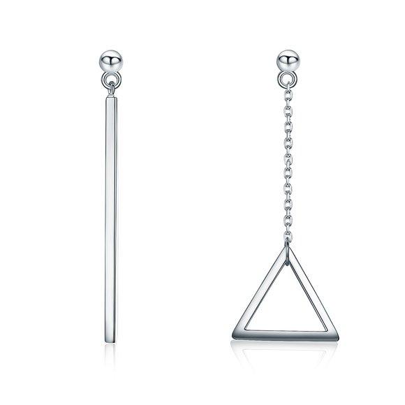 Cercei din argint Geometry Drop