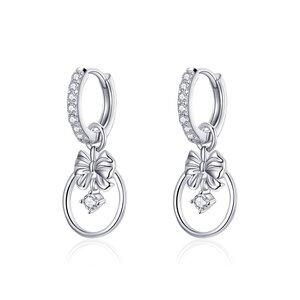 Cercei din argint Glamour Bowknot Hoops