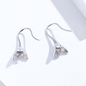 Cercei din argint Glamour Flower Drop