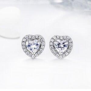 Cercei din argint Glamour Hearts Studs