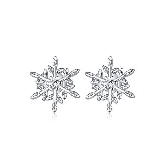Cercei din argint Glamour Snowflakes