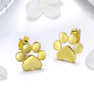 Cercei din argint Gold Paws