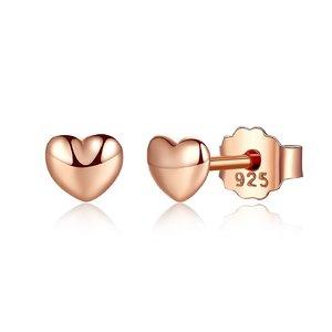 Cercei din argint Gold Petite Hearts
