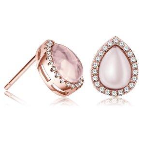 Cercei din argint Golden Opal