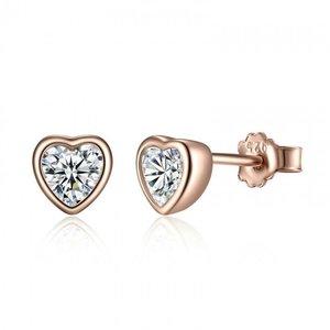 Cercei din argint Gorgeous Hearts