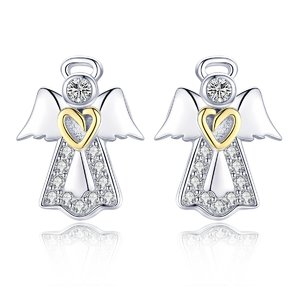 Cercei din argint Guardian Angel Heart