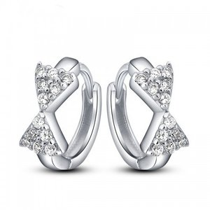 Cercei din argint Hanging Ribbon