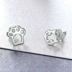 Cercei din argint Happy Cat