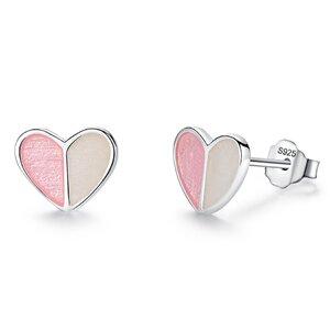 Cercei din argint Heart Duet