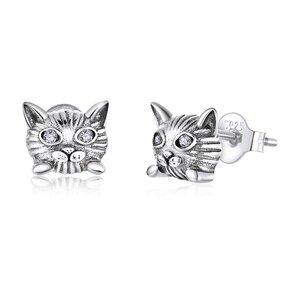 Cercei din argint Hypnotic Cat