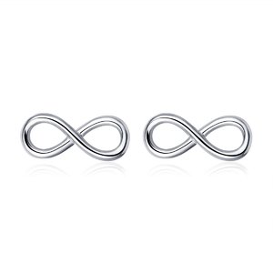 Cercei din argint Infinity Symbol