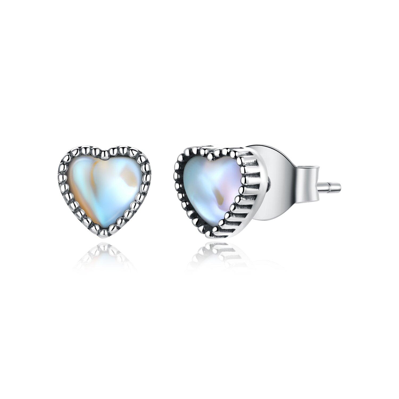 Cercei din argint Iriscendent Hearts