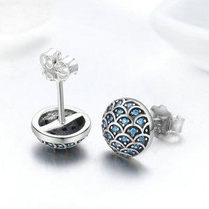 Cercei din argint Little Blue Shine