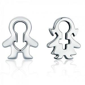 Cercei din argint Little Boy & Girl