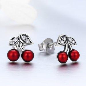 Cercei din argint Little Cherry