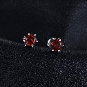 Cercei din argint Little Garnet Dots