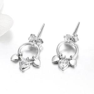 Cercei din argint Little Hearts Studs