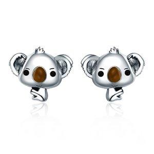 Cercei din argint Little Koala