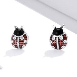 Cercei din argint Little Ladybug Studs