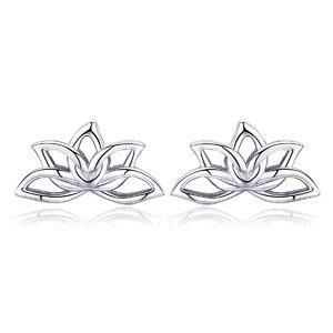 Cercei din argint Little Lotus
