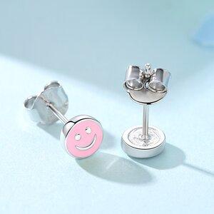 Cercei din argint Little Pink Smile