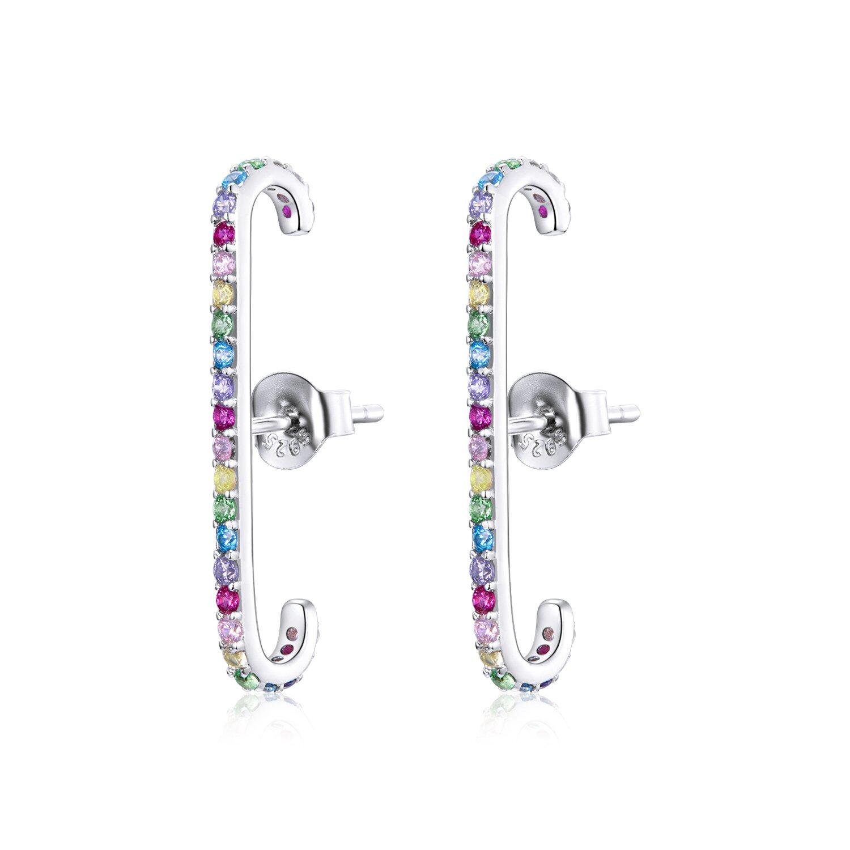 cercei din argint long rainbow band 87832 4