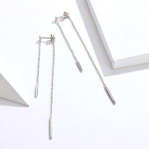 Cercei din argint Long Shiny Chains