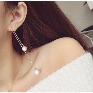 Cercei din argint Long White Pearls
