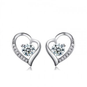 Cercei din argint Love Cherish