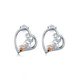 Cercei din argint Love Elephants