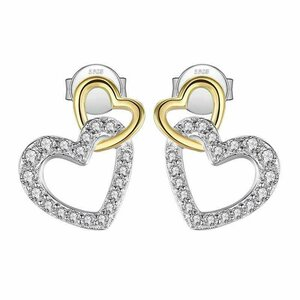 Cercei din argint Love Hearts