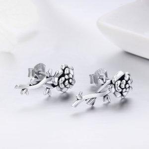 Cercei din argint Love Rose