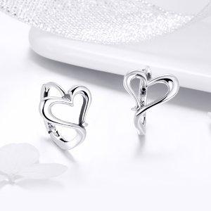 Cercei din argint Love Shape