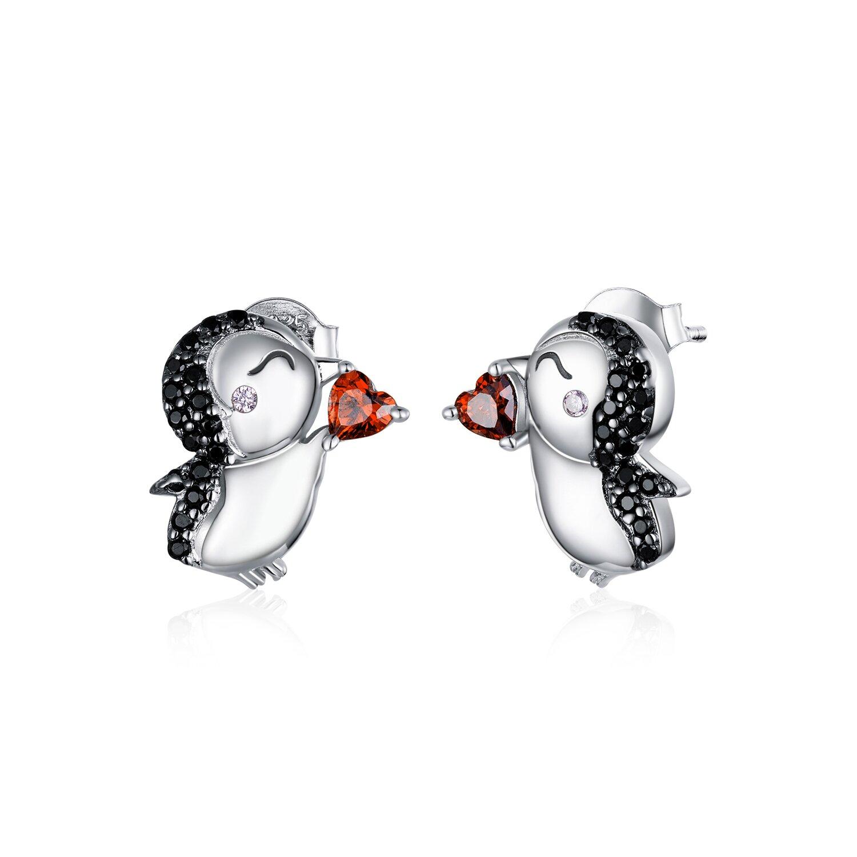 Cercei din argint Loving Penguins poza 2021