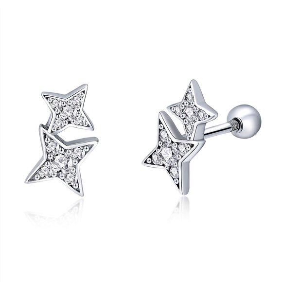 Cercei din argint Meteor Star