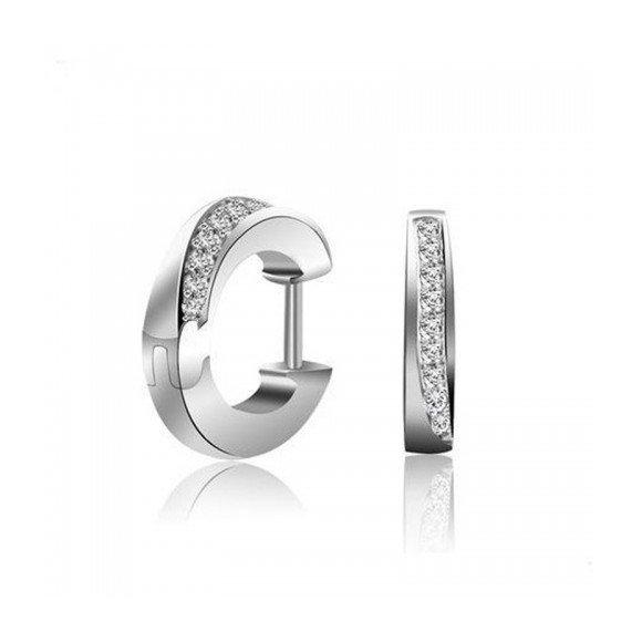 Cercei din argint Moon Diamonds Cut