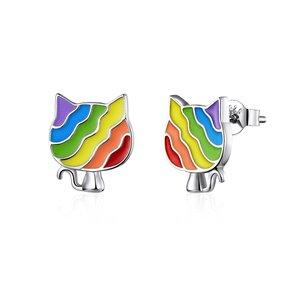 Cercei din argint Multicolor Cats
