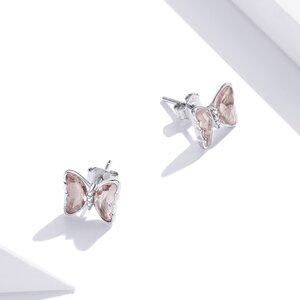 Cercei din argint Nude Butterflies Studs