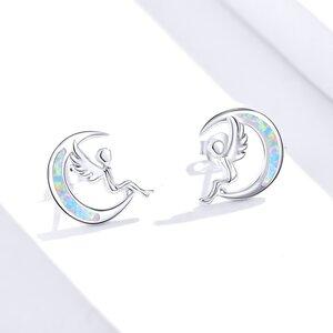 Cercei din argint Opal Fairy