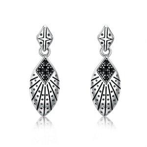 Cercei din argint Oriental Drop