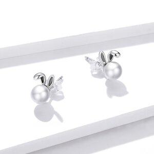 Cercei din argint Pearl Bunny