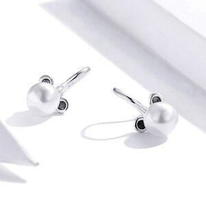Cercei din argint Pearl Mouse