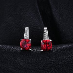 Cercei din argint Perfect Ruby