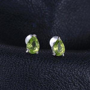 Cercei din argint Peridot Drop