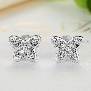 Cercei din argint Petite Butterflies