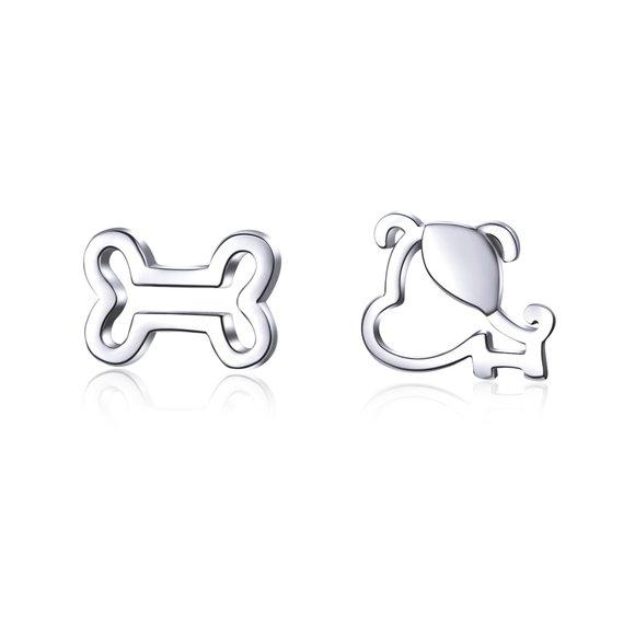 Cercei din argint Puppy & Bone